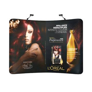 Curved Textile Pop Up Display 10ft (3000mm)