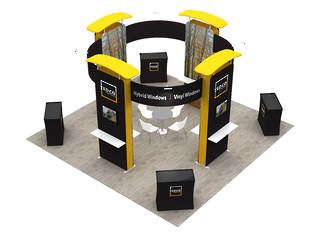 3x6 Exhibition Booth Solution 401
