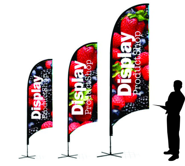 Flag Banner Bow Banner Display Product Shop