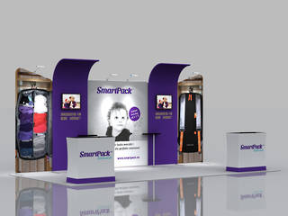 3x6 Exhibition Booth Solution 211
